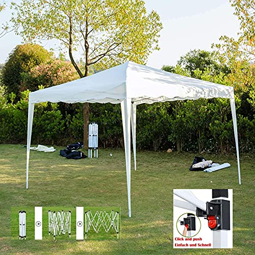 TEPET Gazebo Plegable 100% Impermeable Gazebo Plegable 3 x 3 m Carpa para jardín Carpa para Fiestas Carpa para Club