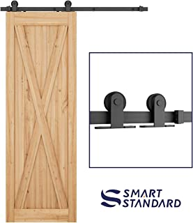 SMARTSTANDARD 5 FT Top Mount Sliding Barn Door Hardware Kit -Smoothly and Quietly -Easy to Install -Includes Step-by-Step Installation Instruction Fit 30