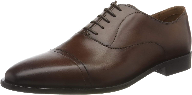 BOSS Men's Lisbon_Oxfr_buct Oxford, Medium Brown210, 8