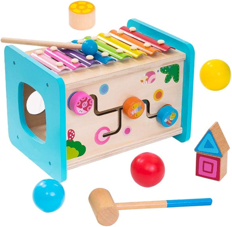 LINGLING-klopfen am klavier Kinder bausteine Spielzeug multifunktionale hlzerne Octave klopfende Klavier spieltisch (gre   L)