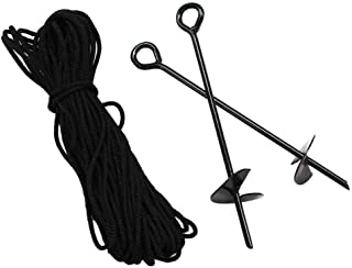 King Canopy A8200 8-Piece 15-Inch Anchor Kit with Rope, Black