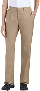 Dickies Pants: Women's Pleated Front Cotton Blend Pants FP220 DN - Blue