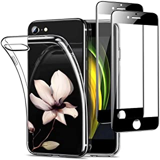 MUTOUREN Funda iPhone SE 2020/iPhone 8/iPhone 7 Transparente Carcasa TPU Silicona Case, con 2* Gratis [Vidrio Templado], U...