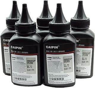 80g Original Black Refill Laser Printer Toner Powder Kit for Samsung MLT-D101S MLTD101 MLT D101S ML-2165W ML-2166W ML2161 ML2662G ML2165W Laser Printer (80g/Bottle Without Chips,5 Pack)