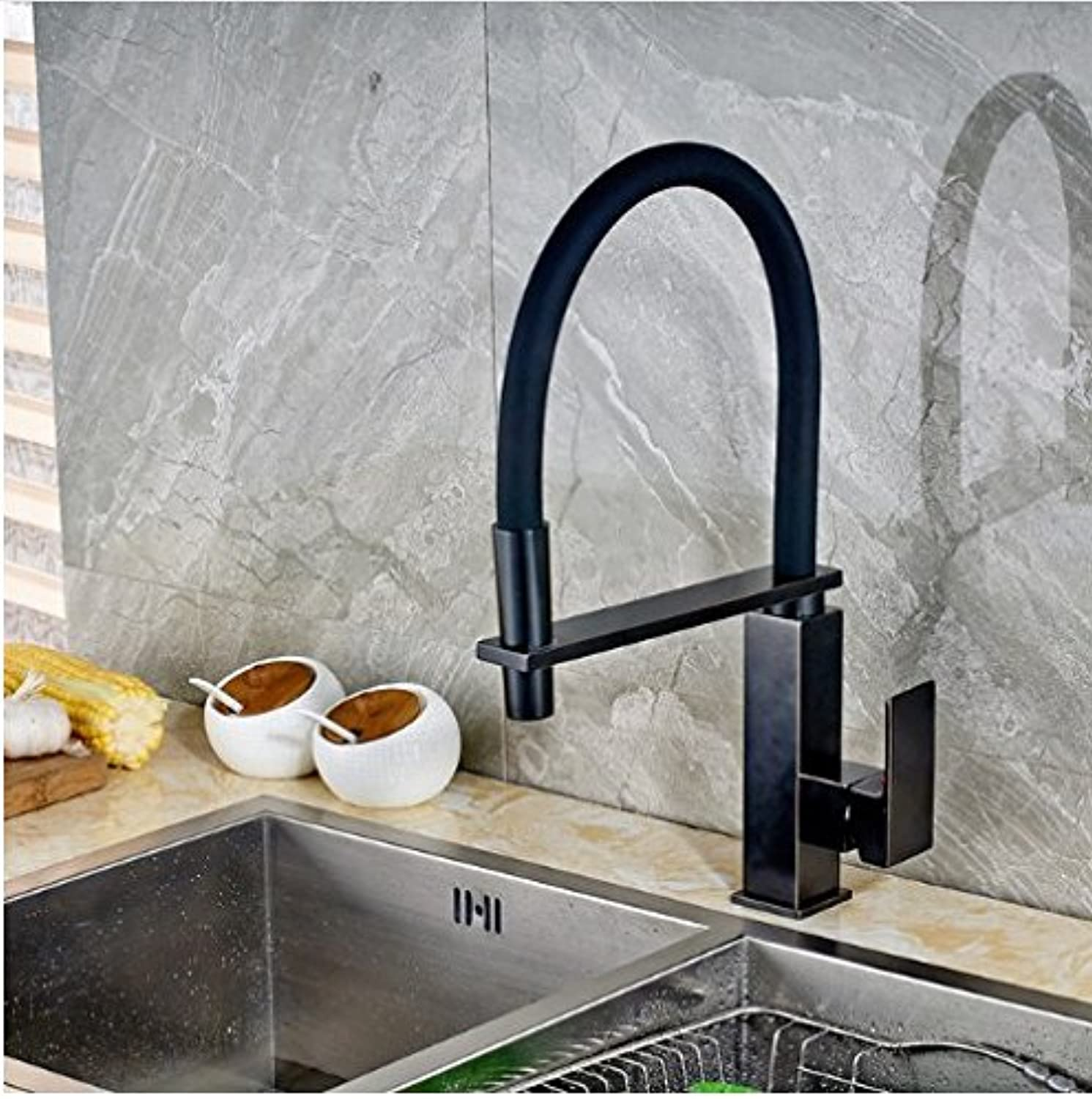Gowe? Oil Rubbed Bronze Single Handle Single Hole Kitchen Sink Mixer Faucet Deck Mounted