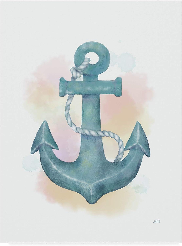 Trademark Fine Art Watercolor Anchor by Jade Reynolds, 14x19