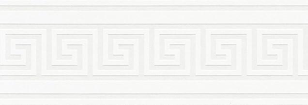 A.S. Création Zelfklevende rand Only Borders rand 5,00 m x 0,13 m metallic wit, 1 stuk