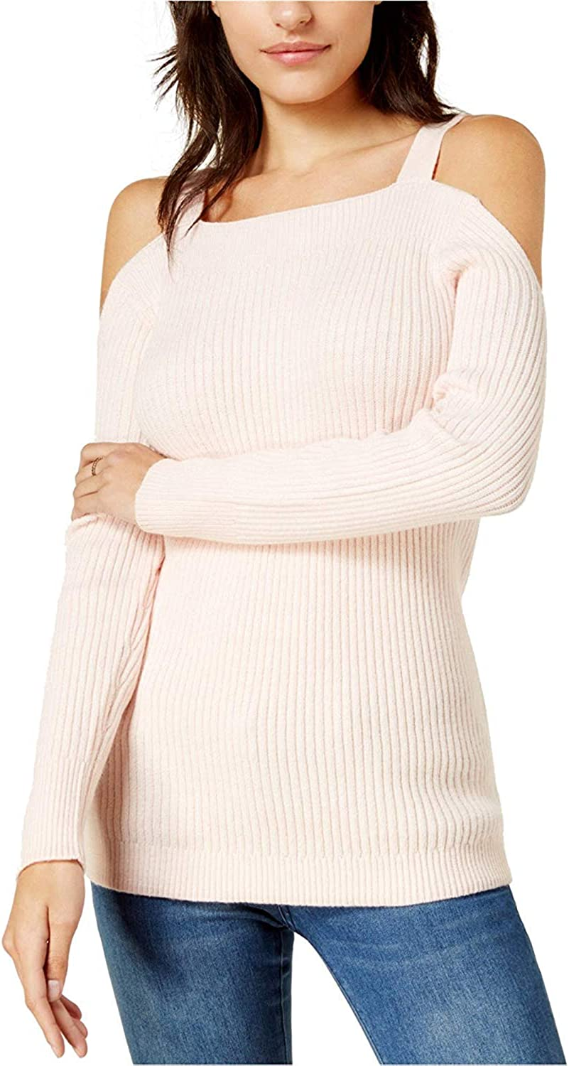Bar III Womens Cold-Shoulder free shipping Max 51% OFF Pullover Sweater