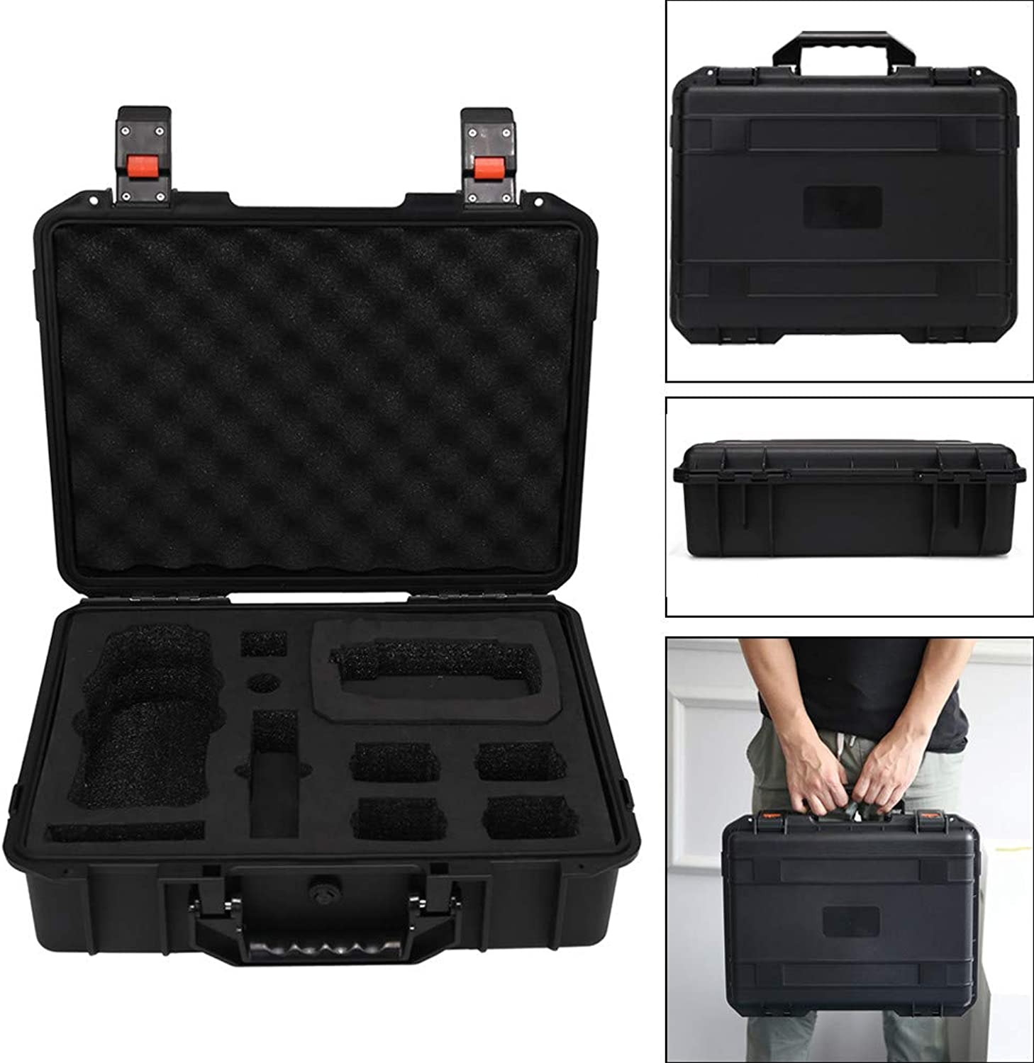 Tensay Military Spec Hardshell Carrying Case Waterproof Storage Case for DJI Mavic 2 Pro Zoom & Smart Controller, Drone Accessories Bags