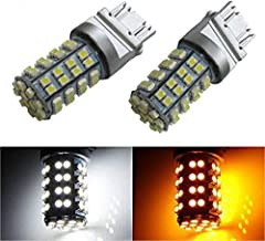 iJDMTOY 60-SMD 3157 Dual-Color Switchback LED Bulbs For Front Turn Signal (60-White 60-Amber)