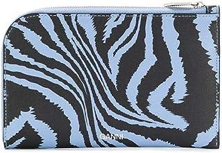 Luxury Fashion   Ganni Womens A2164681 Light Blue Wallet   Spring Summer 20