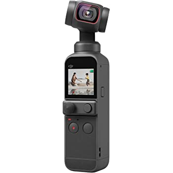 """DJI Pocket 2 - Handheld 3-Axis Gimbal Stabilizer with 4K Camera, 1/1.7"""" CMOS, 64MP Photo, Pocket-Sized, ActiveTrack 3.0, Glamour Effects, YouTube Video Vlog, for Android and iPhone, Black"""