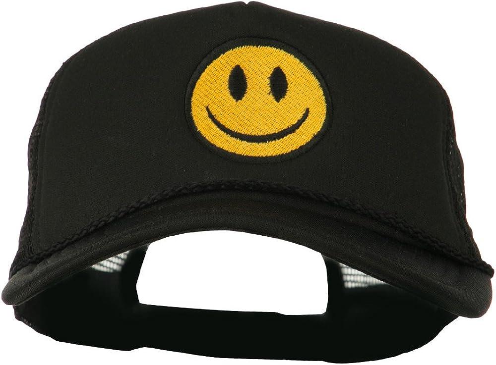 e4Hats.com Smile Face Embroidered Big Size Trucker Cap