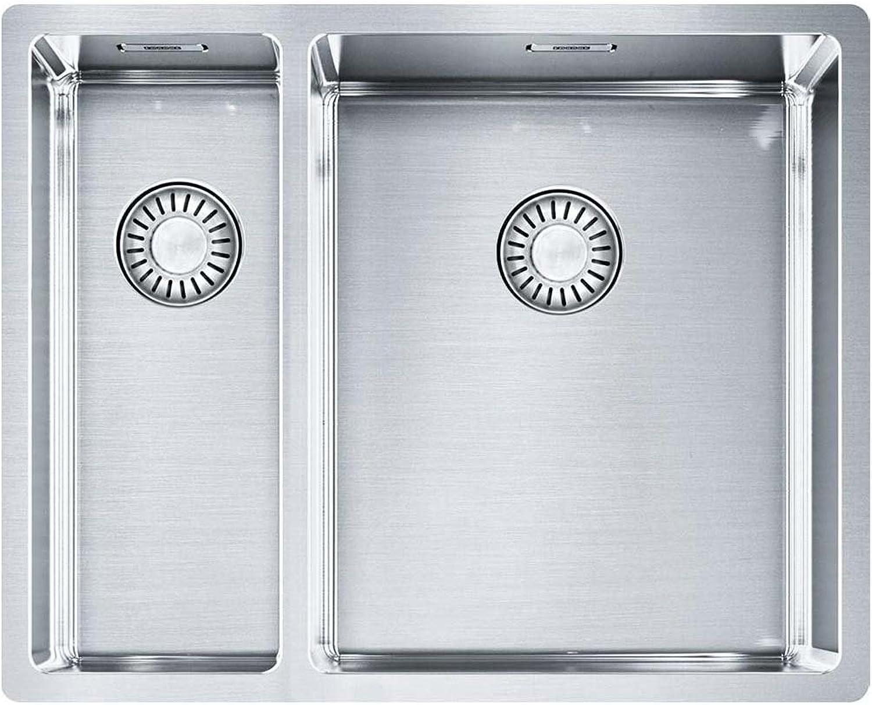 Franke Box Küchenspüle BXX 260 160-34-16 Edelstahl Seidenglanz überlaufloch versteckt