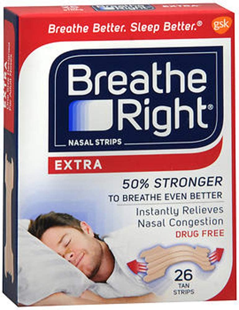 Breathe Right Nasal Strips, Extra, 26-Count Box (3 Pack): Health & Personal Care