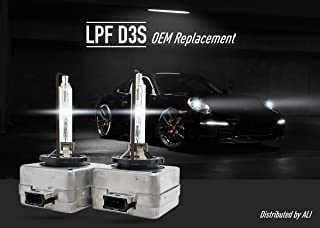 LPF OE Replacement HID XENON Headlight bulbs 35W - D1S, D2S, D2R, D3S, D4S, D4R 4300K/5000K/6000K - Pack of 2 (D3S, 5000K)