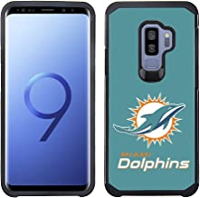 Prime Brands Group Textured Team Color Cell Phone Case for Samsung Galaxy S9 Plus - NFL Licensed Miami Dolphins
