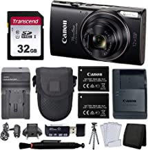 $199 » Canon PowerShot ELPH 360 HS Digital Camera (Black) + Black Point & Shoot Case + AC/DC Travel Charger & Replacement Battery + Transcend 32GB UHS-I U1 SD Memory Card + Top Value Accessories!