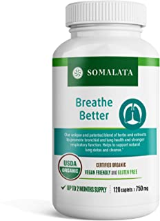 Breathe Better - Natural Respiratory Health Support - Herbal Lung and Bronchial Supplement - Organic