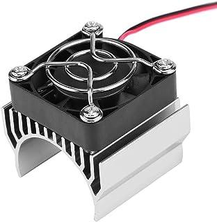 540/550/3650 Motor koellichaam met koelventilator, koellichaam accessoire voor 1/10 schaal elektrische RC automotor(Zilver)
