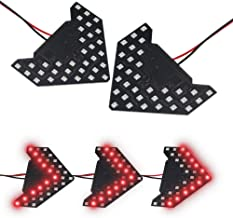 LEADTOPS 2 Pcs 14 SMD LED Arrow Panel lights, Mini Marker Clearance Light For Car Rear View Mirror Indicator Turn Signal Light Bulb(33SMD Red Light)