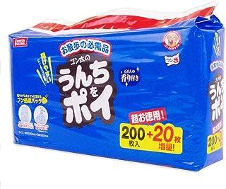 【Amazon.co.jp限定】 マルカン うんちをポイ 犬用 200枚入+20枚増量