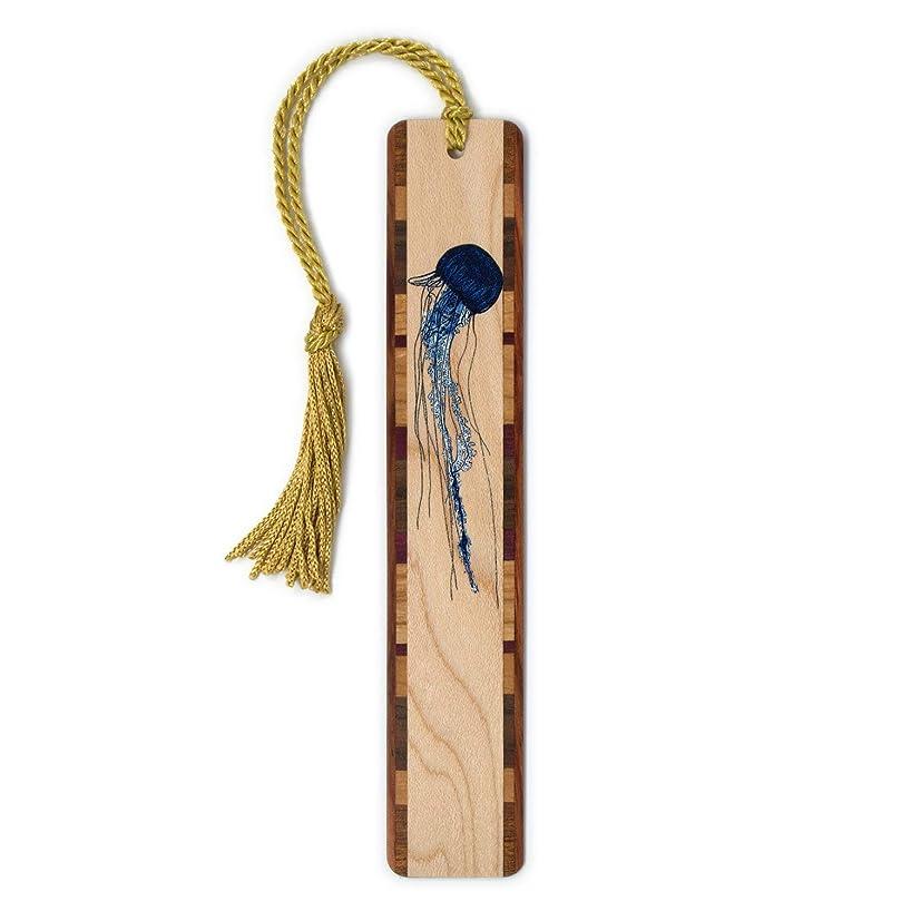 Jellyfish Wooden Bookmark with Tassel