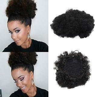 comprar comparacion JEZZ Beauty - Extensión de pelo sintético rizado, coletero de pelo corto rizado. Extensión de pelo sintético para recogido...