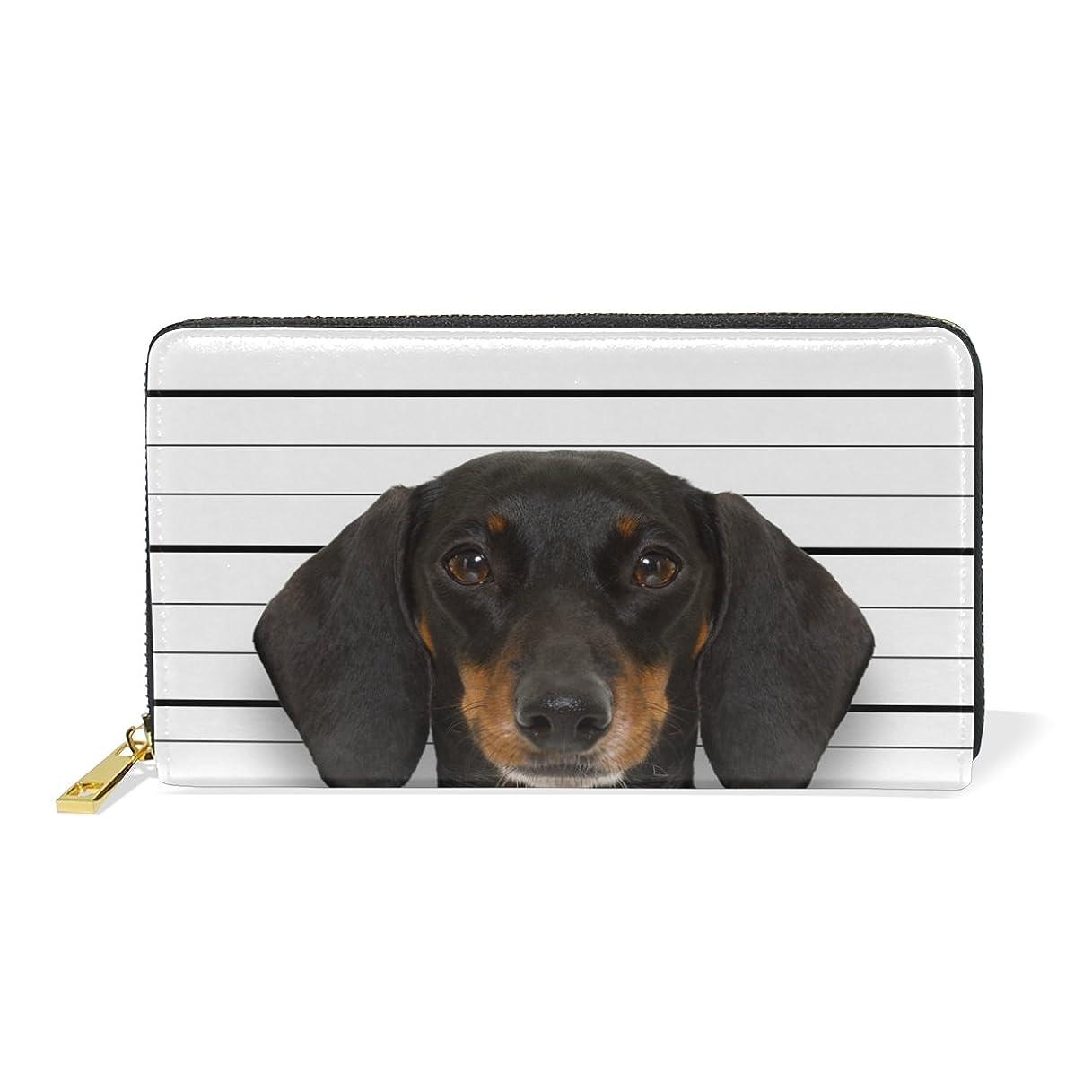 遅滞うめきアグネスグレイ旅立の店 長財布 人気 レディース メンズ 大容量多機能 二つ折り ラウンドファスナー 本革  犬柄 面白い ウォレット
