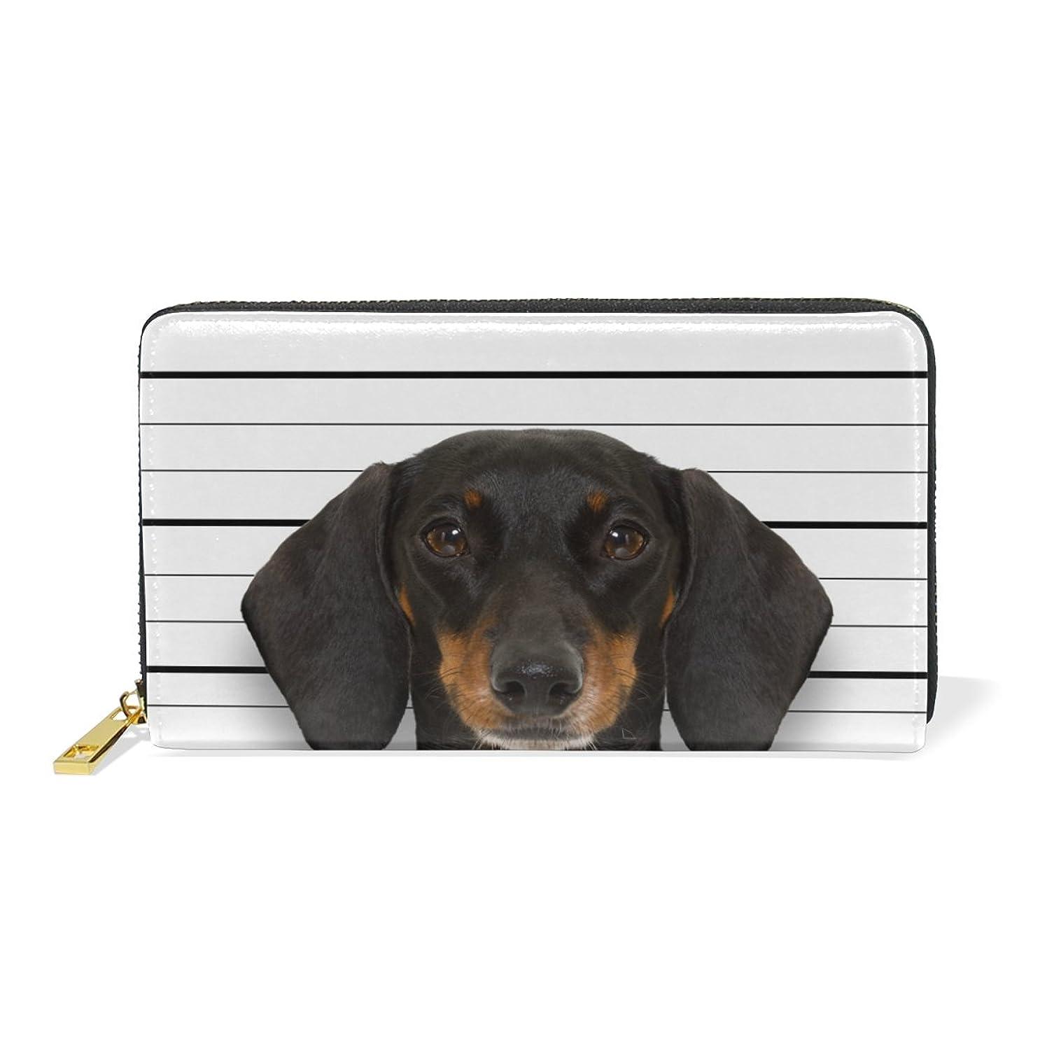 調整する寄生虫曇った旅立の店 長財布 人気 レディース メンズ 大容量多機能 二つ折り ラウンドファスナー 本革  犬柄 面白い ウォレット
