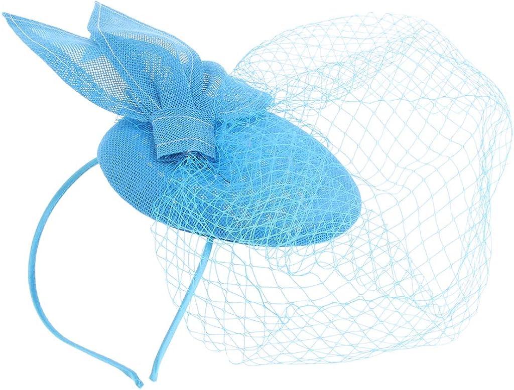 LoveinDIY Royal Floral Veil Fascinators Wedding Tea Party Pillbo