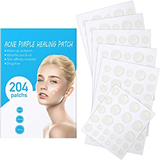 Acne Patch, ProCIV Pimple Patch - Acne Pimple Healing Patch, (204 Count) Absorbing Invisible Hydrocolloid Blemish Spot Skin Treatment and Care Dressing