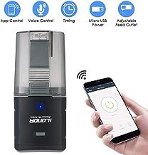 Decdeal - Dispensador automático de Alimentos para Acuario, Salida Ajustable, Control de App, Control de Voz Compatible con Alexa iLONDA