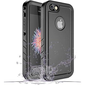 SPORTLINK Funda Impermeable para iPhone SE 2016, Waterproof Case a Prueba de choques a Prueba de Polvo Anti-rasguños Full Body Protector Case de Pantalla Submarino Caso (Negro)
