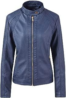 JESPER Faux Leather Jacket Women Lambskin Womens Jacket with Moto Details and Front Zip Pockets