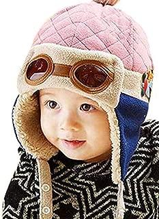 Children Pilot Aviator Hat, Warm Baby Kid Winter Earflap Pilot Cap Aviator Hat Beanie Flight Helmet