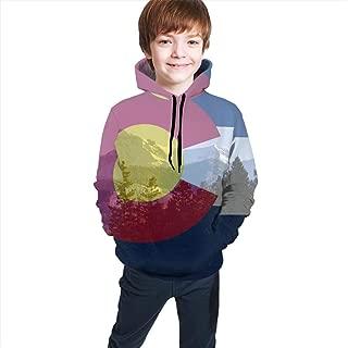 Boys & Girls Drawstring Hoodie Sweatshirts Slim Top Blouse