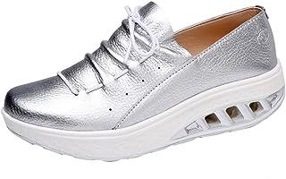 e6062f9d Zapatos de Cuero para Mujer Otoño 2018 Zapatillas Dama con Plataforma  PAOLIAN Casual Cómodo Calzado de