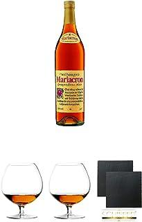 Mariacron Weinbrand 3,0 Liter  Cognacglas/Schwenker Stölzle 1 Stück - 103/18  Cognacglas/Schwenker Stölzle 1 Stück - 103/18  Schiefer Glasuntersetzer eckig ca. 9,5 cm Durchmesser 2 Stück