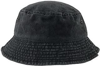 Unisex Short Brim Cotton Bucket Hat Summer Outdoors Leisure Fisherman Hat, Black