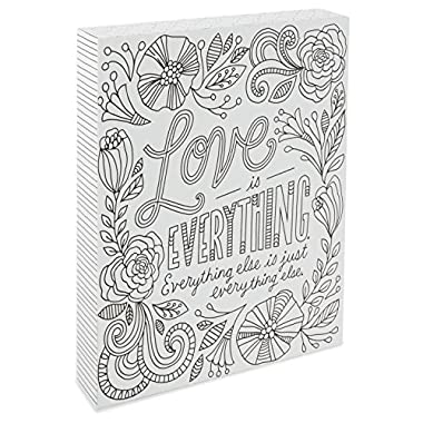 Hallmark Love Is Everything Coloring Plaque
