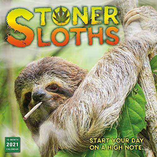 2021 Stoner Sloths 16-Month Wall Calendar