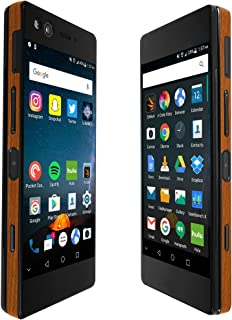 Skinomi Light Wood Full Body Skin Compatible with ZTE Axon M (Full Coverage) TechSkin with Anti-Bubble Clear Film Screen Protector