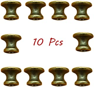 10 Pcs Vintage Cabinet Drawer Mini Metal Jewelry Box Gift Case Knobs Single Hole Pull Handles