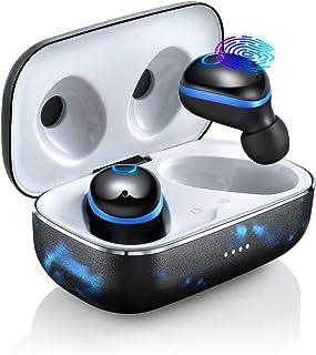 Bluetooth Kopfhörer In Ear Kabellos Bluetooth Kopfhörer 3D Stereo Sound Ohrhörer mit Mikrofon, CVC 6.0 Noise Cancelling, 120H Standby, Metall Ladebox, Bluetooth 5.0 Sport Kopfhörer