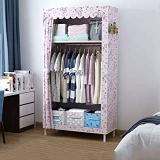 JLKDF Armoire en Toile Simple RJJBYY - Armoire en Tissu pour Chambre à Coucher pour Enfants Adultes - pour Cadre Suspendu ...