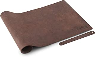 "HITEM Genuine Leather Desk Pad, 36"" x 18"", Executive Desk Laptop Blotter Writing Mat for Office and Home (Espresso Brown)"