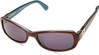 Paxton 2/S Rectangular Women's Sunglasses, 53mm (Havana Blue, Gray Blue)