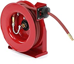 """Reelcraft 4625 Premium Duty Spring Retractable Hose Reel, Made with Reinforced Steel, Long Life Drive Spring and Quiet Speed Latch, ⅜"""" x 25'"""