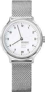 Mondaine - Helvetica Regular- Reloj de Acero Inoxidable para Hombres y Mujeres, MH1.R1210.SM, 33 MM